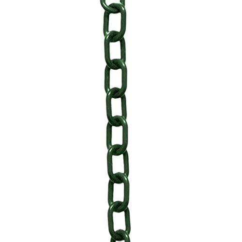 Mr. Chain Plastic Barrier Chain (Evergreen) 1.5'' x 50 Foot Length