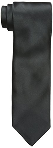 - Geoffrey Beene Men's Satin Solid Tie, Black, One Size