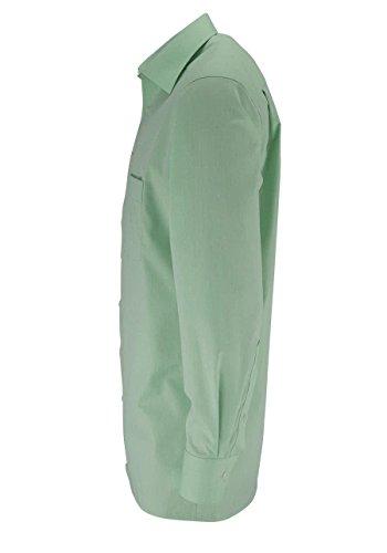 MARVELIS Comfort Fit Hemd Langarm New Kent Kragen hellgrün