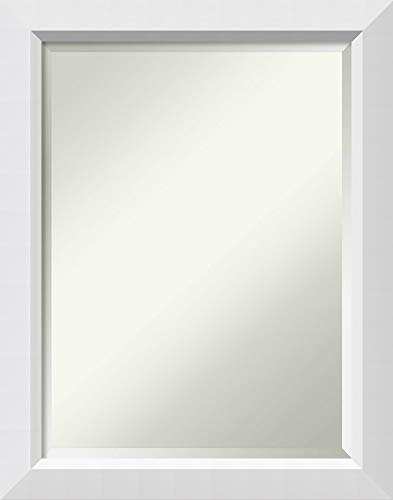 Amanti Art Bathroom Mirror Medium Large, Fits Standard 24 to 30 Cabinet, Blanco White: Outer Size 22 x 28