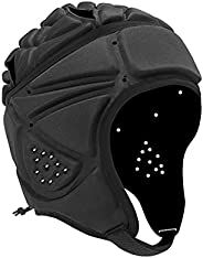 Rugby Soft Padded Headgear Soft Shells Head Protector Goalkeeper Adjustable Soccer Goalie Helmet Support Rugby