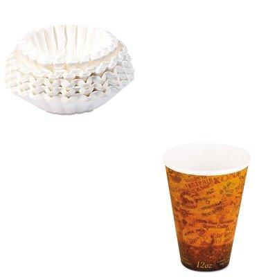 KITBUN1M5002DRC12U16ESC - Value Kit - Dart Foam Hot/Cold Cups (DRC12U16ESC) and Bunn Coffee Commercial Coffee Filters (BUN1M5002)