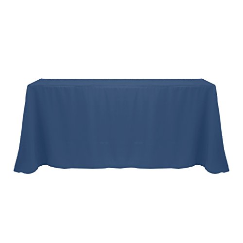 Ultimate Textile -2 Pack- 90 x 132-Inch Rectangular Polyester Linen Tablecloth with Rounded Corners - for Wedding, Restaurant or Banquet use, Wedgewood Blue by Ultimate Textile