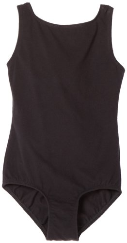 - Danskin Big Girls' High Neck Tank Leotard, Black, Intermediate