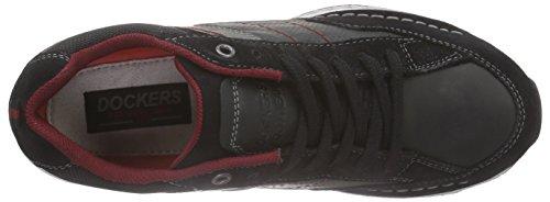 Grau 120 Nero Basse 38av006 by 201 Schwarz Schwarz Dockers Sneaker Gerli Uomo ZUPwc4