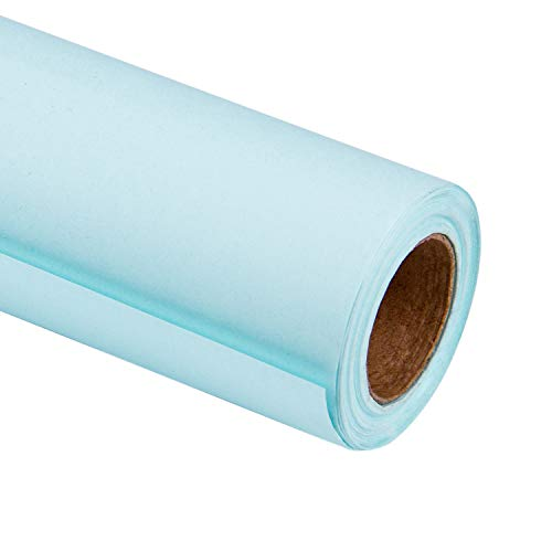 (RUSPEPA Blue Kraft Wrapping Paper - 81.5 Sq Ft Heavyweight Paper for Wedding,Birthday, Shower, Congrats, and Holiday Gifts - 30Inch X 32.8Feet Per)