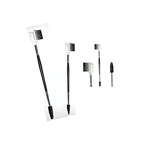 Eyebrow Brush Combo 3 in 1 To Perfectly Style Brows Instantly With Brush, Comb or Spoolie To Define Arch Blend For Thicker EyeBrows and Lashes (Eyebrow Grooming Brush)