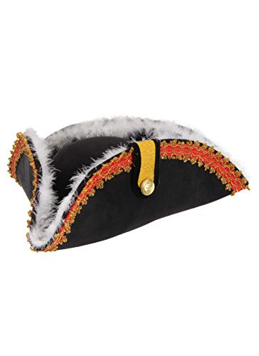 elope Gov'nah Pirate Admiral Bicorn Costume Hat for ()