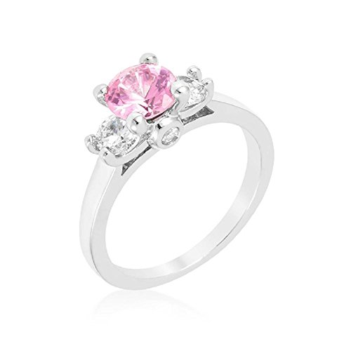 Solid Mini Pink Ice Triplet Ring (Style Pink Ice Ring)