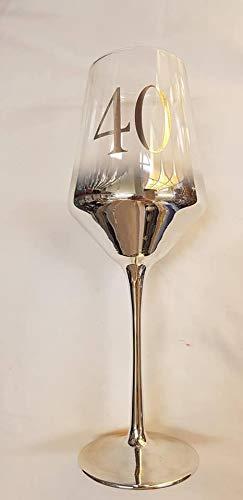 Copa de vino de plata para 40 cumpleaños, algo diferente ...