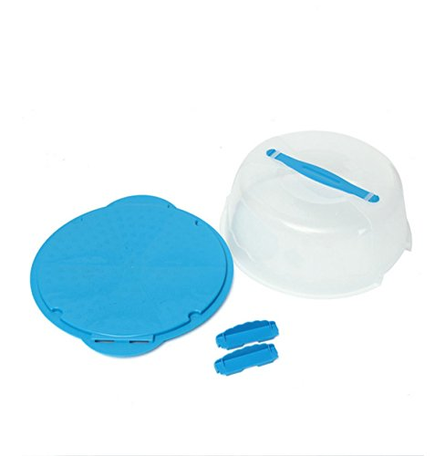 Best Yosoo 10 Inch Portable Round Plastic Cake Caddy