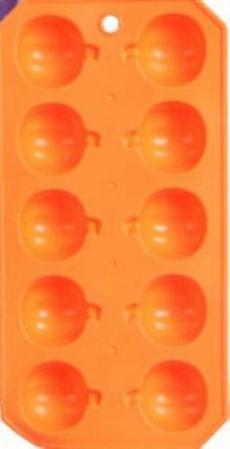 Pack of 2 Spooky Halloween Rubber Ice Cube Tray (Orange Pumpkins) -