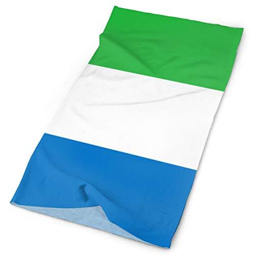 - SGDAERS Flag of Sierra Leone Tube Bandanas Headwear Headband Magic Scarf Face Mask Neck Caps