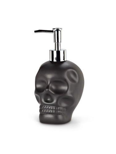 Negro mate 17,78 cm bomba de dispensador de jabón de calavera de cerámica con mango: Amazon.es: Hogar
