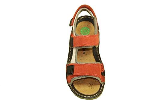 Reflexan 73300-05 Damen Sandalen Trekking Leder Rot 3 Klettverschlüsse