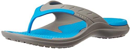 Crocs - Unisexe MODI Sport Flip-Flop, EUR: 44.5, Smoke/Ocean
