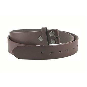 Ethos Noir uni Boucle de ceinture en cuir à clipser pour - Marron - XX- cca939b2d8e