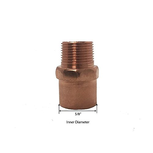 Libra Supply 1/2 x 1/4 inch(Nominal Size) Copper Reducing Male Adapter, C x MIP (Pack of 10 pcs, Click in for more size options) 1/2'' x 1/4'', 1/2 Copper x 1/4 MPT Copper Pipe Fitting Plumbing Supply by Libra Supply