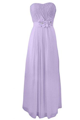 Lilac Charming damigella d'onore abito abiti Sweetheart da per A sera Line Sunvary Chiffon 6xdqfF7wFB