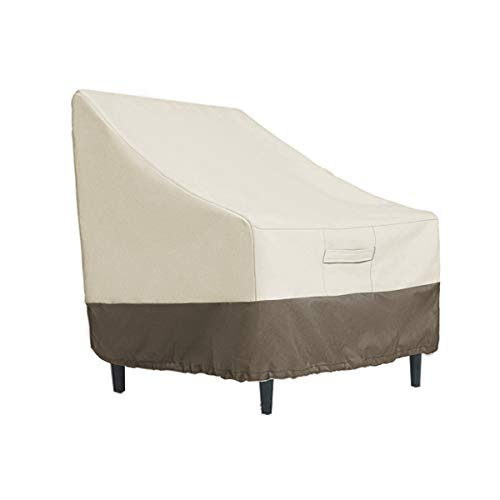 PHI VILLA Patio Lounge Chair/Club Chair Cover, Durable Waterproof Outdoor Furniture Cover, Medium, L31 x D38 x H31 ()