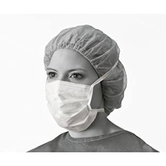NON27385Z - Medline Hypoallergenic Surgical Face Masks,White