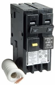 Breaker Ground Square D Fault (50 Amp HOM250GFIC Two Pole GFCI Circuit Breaker for Square D Homeline)
