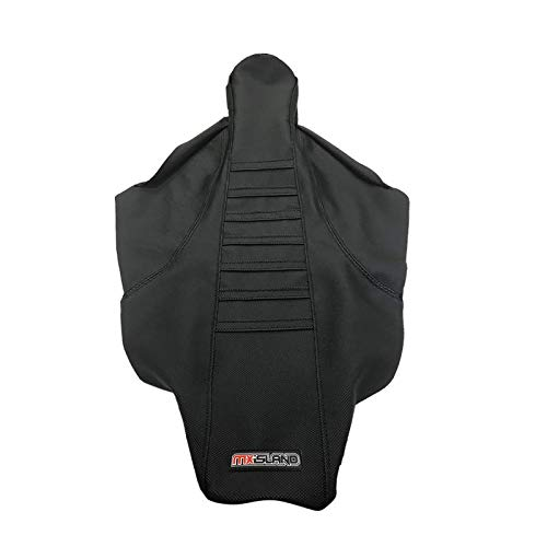 MX ISLAND 2017 2018 HONDA CRF 450 R BLACK RIBBED FULL CONTROL GRIPPER SEAT COVER
