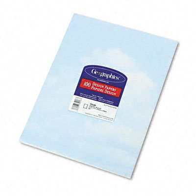 Geographics Design Paper, 24 lbs, Clouds, 8 1/2 x 11, Blue/White, -