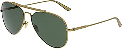 Calvin Klein CK8032S-718 Gold Aviator Sunglasses