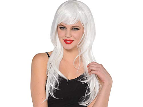(Amscan Glamourous Party Wig Costume, White)