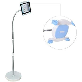 """Height adjustable Floor Mount Stand, Kitchen Mount Tablet Holder for 7""""-12"""" Tablets"""
