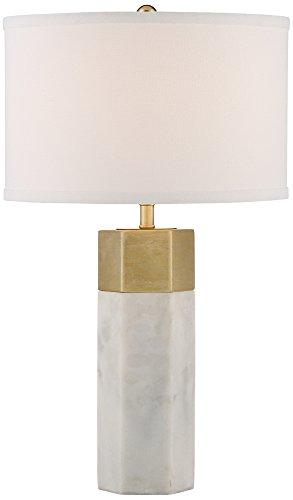 Possini Euro Leala Faux Marble Table Lamp - Marble Lamp Base