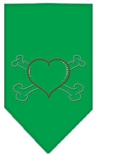 Heart Crossbone Rhinestone Bandana Emerald Green Large Case Pack 24 Heart Cro... by DSD