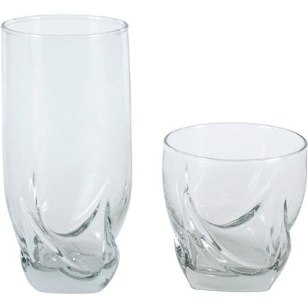 Elegant 16 Piece Drinkware Glassware Tumblers