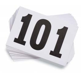 Running Number - Gill Athletics Competitor's Number Paper Tags (Set of 100), 001-100