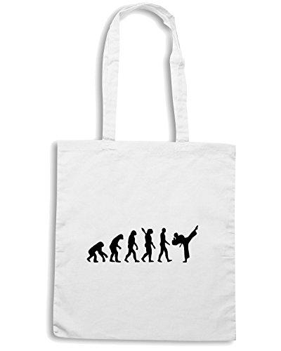 T-Shirtshock - Bolsa para la compra OLDENG00067 evolution karate kickboxing Blanco