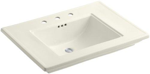 KOHLER K-2269-8-96 Memoirs Bathroom Sink with Stately Design, Biscuit
