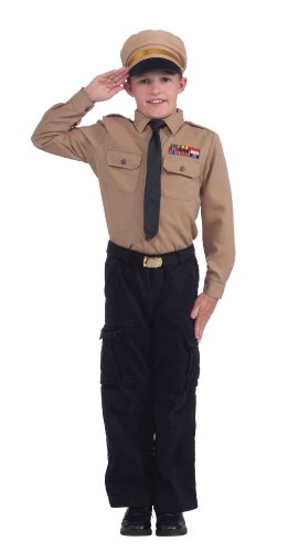 Forum Novelties Army General Instant Child Costume Kit, Medium - Kids Military Army Uniforms