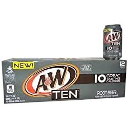 A&W Ten Root Beer, 12pk, 12 oz Cans
