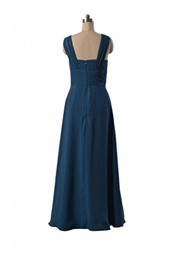Dress Blue BM9826 Chiffon Square Bridesmaid 37 Neckline Evening Long royal DaisyFormals Dress 18Ptqn8
