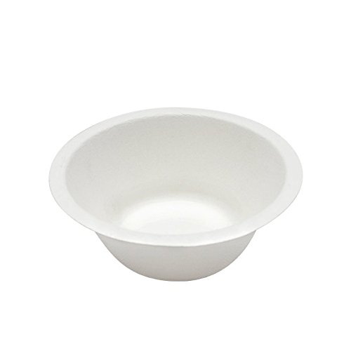 Durable Bagasse Eco-Friendly Rice Bowls 8oz Pack of 50 Bowls - Microwave Safe, Compostable, Made from Sugercane Fibers (50 Count, 8oz)