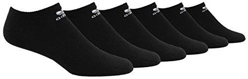 - adidas Men's Originals Trefoil Cushioned No Show Socks (6-Pack), Black/ White, Size 6-12