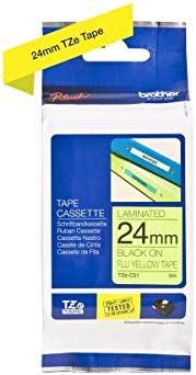 2470 neon-grün für BROTHER P-Touch 2460 Schriftbandkassette 24mm schwarz