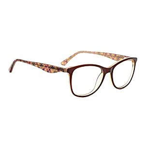 TIJN Women Acetate Subtle Cat Eye Thin Non-prescription Eyeglasses Clear Lens