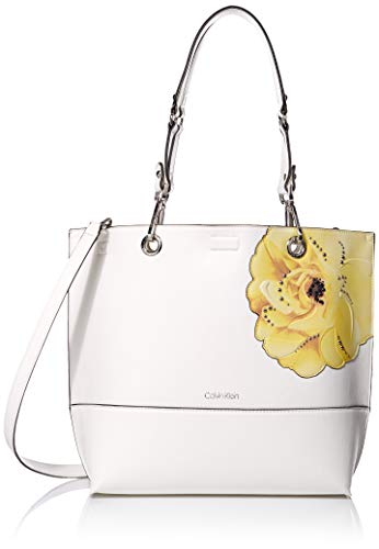 Calvin Klein Sonoma Reversible Novelty North/South Tote, Floral White ()