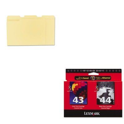 KITLEX18Y0372UNV12113 - Value Kit - Lexmark 18Y0372 Ink (LEX18Y0372) and Universal File Folders (UNV12113)