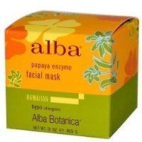 Alba Botanica Papaya Enzyme Facial Mask, 3 Ounce Jar ()