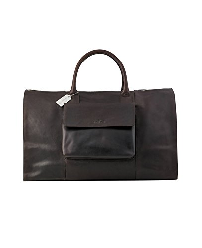 Savile Row Men's Dark Brown Leather Holdall by The Savile Row Company