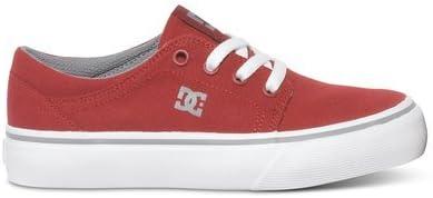 DC Trase TX Skate Shoe,Black White,4