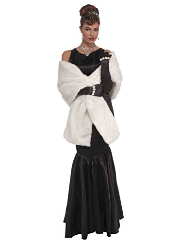 Forum Novelties Vintage Hollywood Faux Mink Stole, White, One Size]()